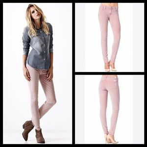 Free People corduroy rose pink skinny jean cords